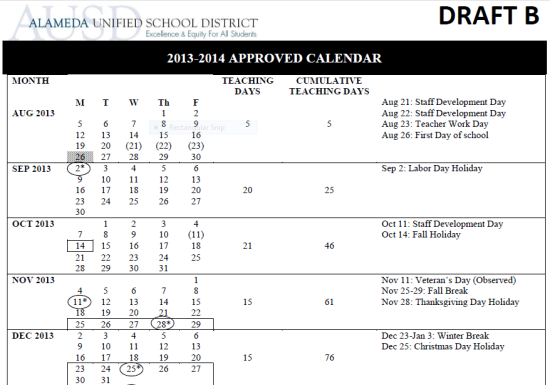 i must say i much more of a fan of draft b since im not in love with the august 21 start date in the draft c calendar and the mid week - When Does School Start After Christmas Break